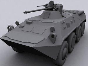 btr 80 personnel carrier 3d model