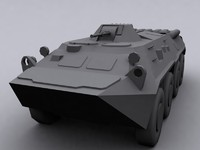 3d model btr 80 soviet transport