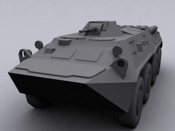 3d model btr 80 soviet transport