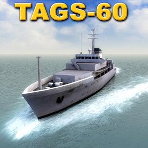 tags-60 pathfinder navy 60 3d model