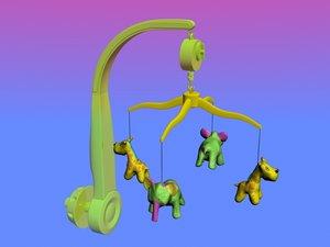 3d model musical mobile toys