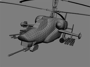3d model of ka 58 gunship helicopter