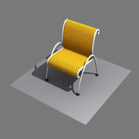 3d wicker plastic chair
