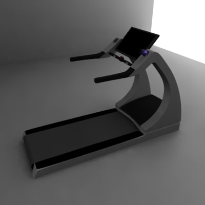 treadmill yafray 3d model