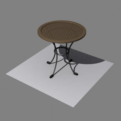 max wicker wooden table