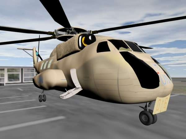 free ch-53 helicopter 3d model