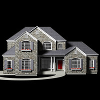 upscale stone house exterior max