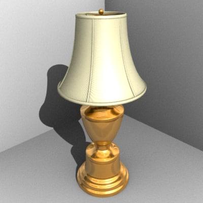 3d brass lamp