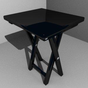 folding table 3d obj