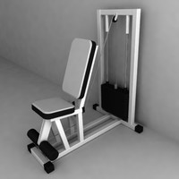 gym machine 3d model