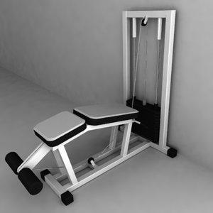 3d 3ds gym machine