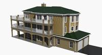 exterior residential house 3d model
