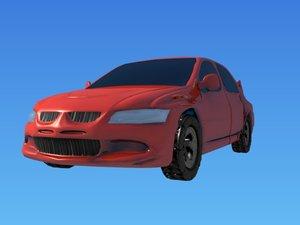 3d model car lancer