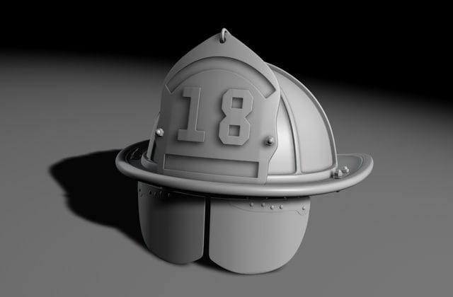 3d model fireman helmet