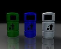 3d trash cans model