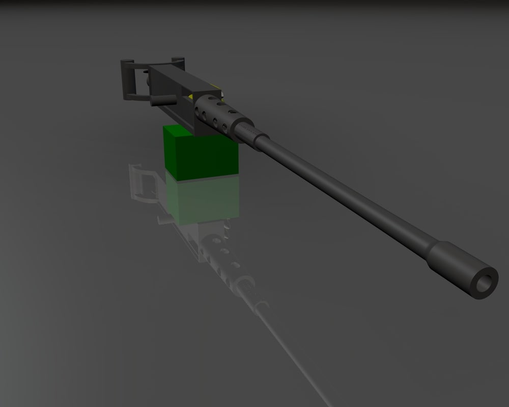 50 caliber machine gun c4d free