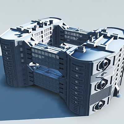 3ds max building modern