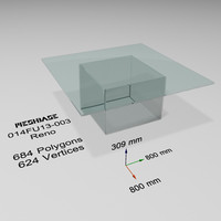 Glass Table 003  - Reno