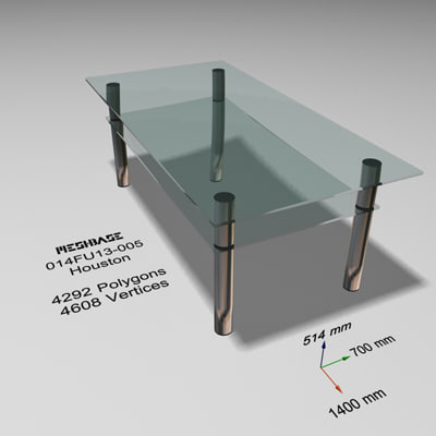table glass - 3d max