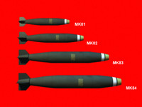 3d model mk series bombs