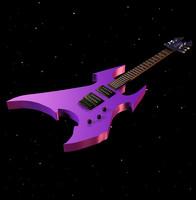 3d guitar prop