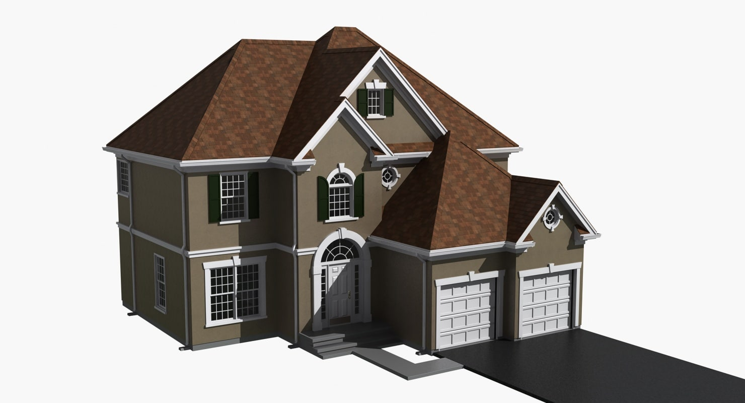 residential house 3d model