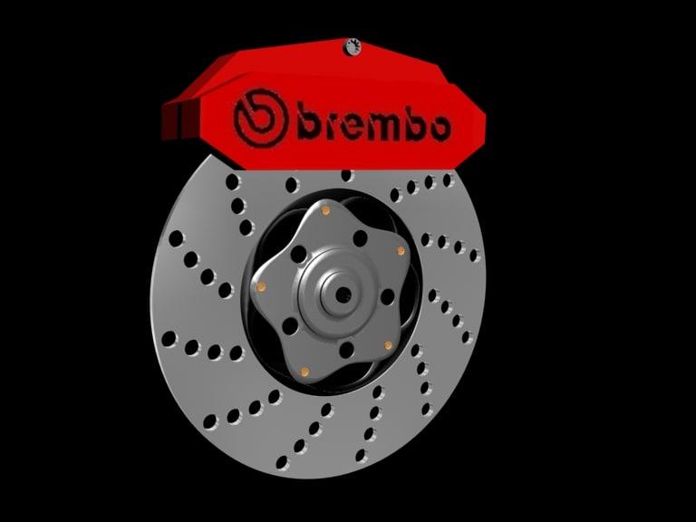 free car brake caliper 3d model