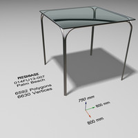 3ds max glass table -