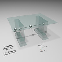 3d model of dining table - trash