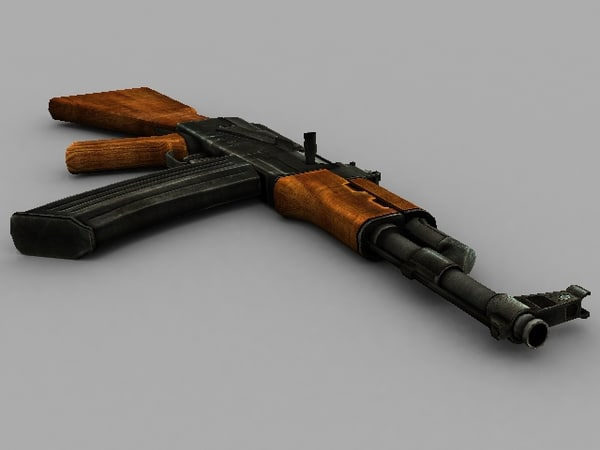 3d russian ak-47 rifle model