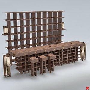 3d bar counter model