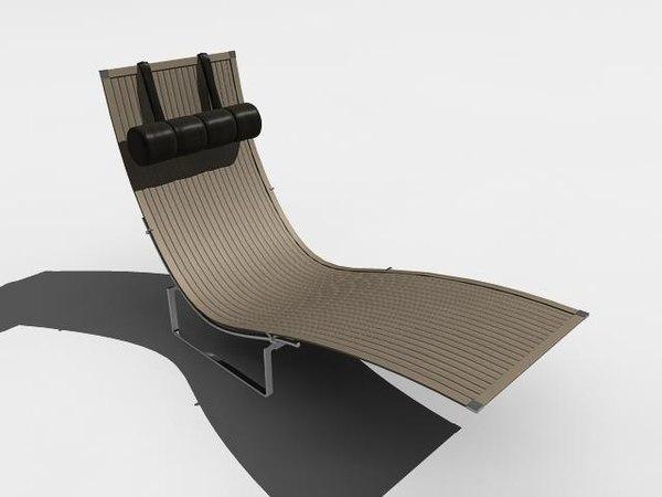 3d lounger model