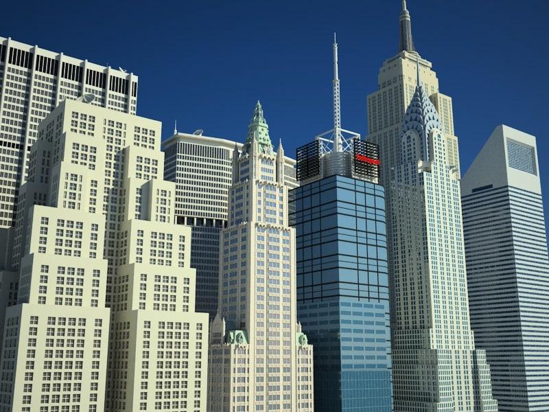 newyork skyscrapers building 3d model
