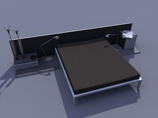 3d bed room model