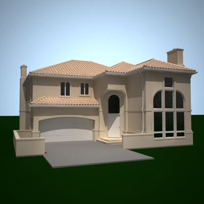 3d 3ds residential house