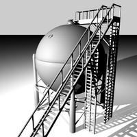 oil tank 3d c4d