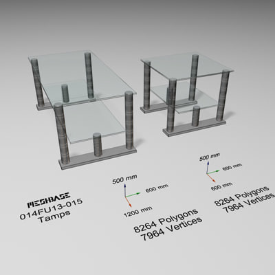 3d model glass table -