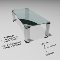 3d model table - trash