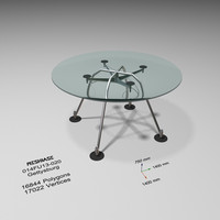 3d table glass -