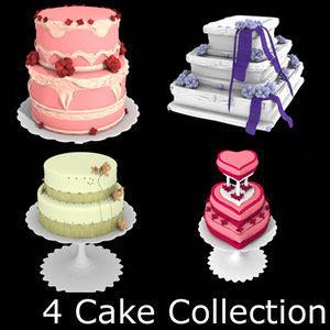 cake stand heart 3d model