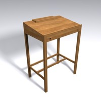 3d model thomas moser lectern desk