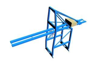 sts gantry crane 3d max