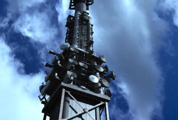 3d giant telecommunication tower station model