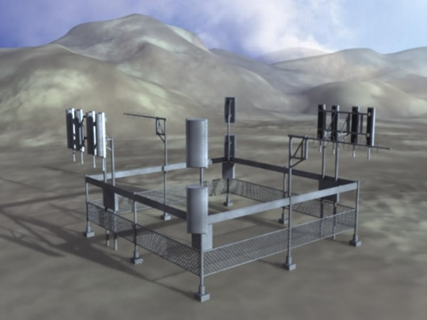 3dsmax ground cell array