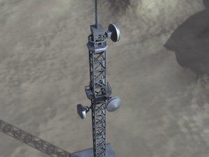 telecommunication tower communication 3d model