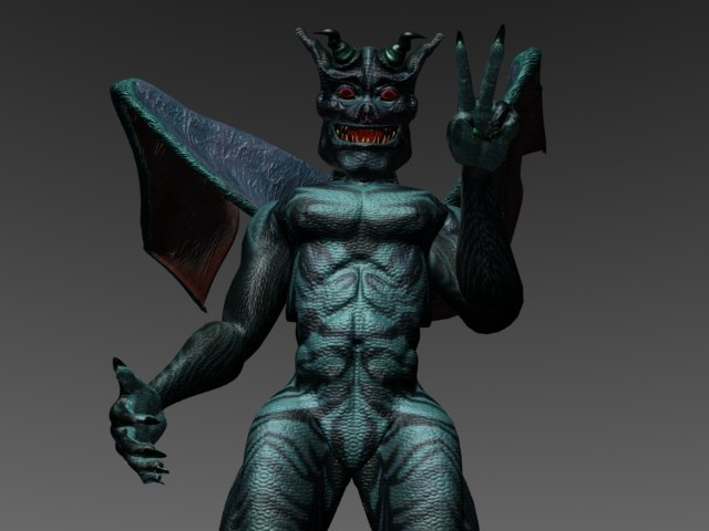 3d model of gargoyle creature