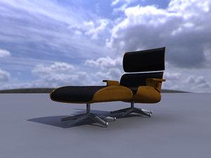 3d model pouf armchair