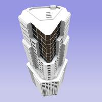 3d model building modern city