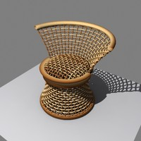 obj wicker wooden chair