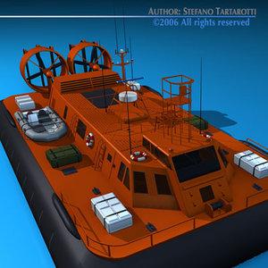 3dsmax rescue hovercraft
